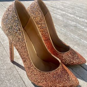 Rose Gold Sparkly High Heels